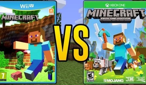 Minecraft Wii U Vs Xbox 360 One Edition