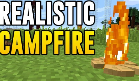 Minecraft Xbox 360, PS3 & Wii U - How to Make Realistic Campfire in