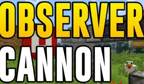 OBSERVER BLOCK ARROW CANNON! (Minecraft Xbox One & PS4