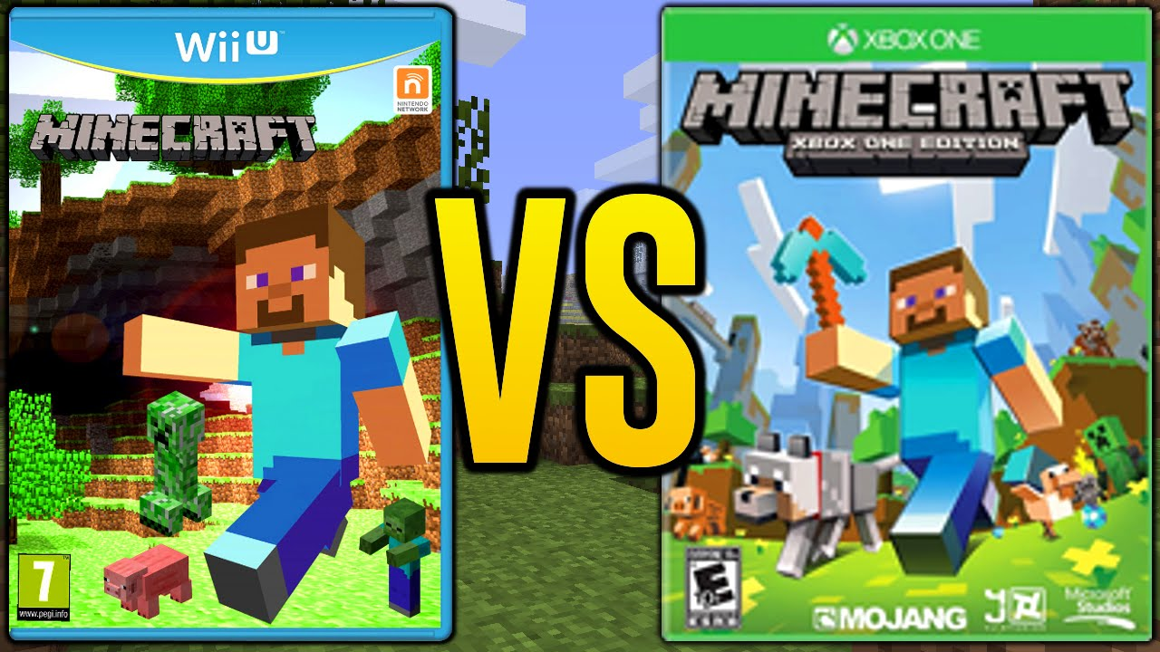 Minecraft Wii U vs Minecraft Xbox 360 & Minecraft Xbox One ...