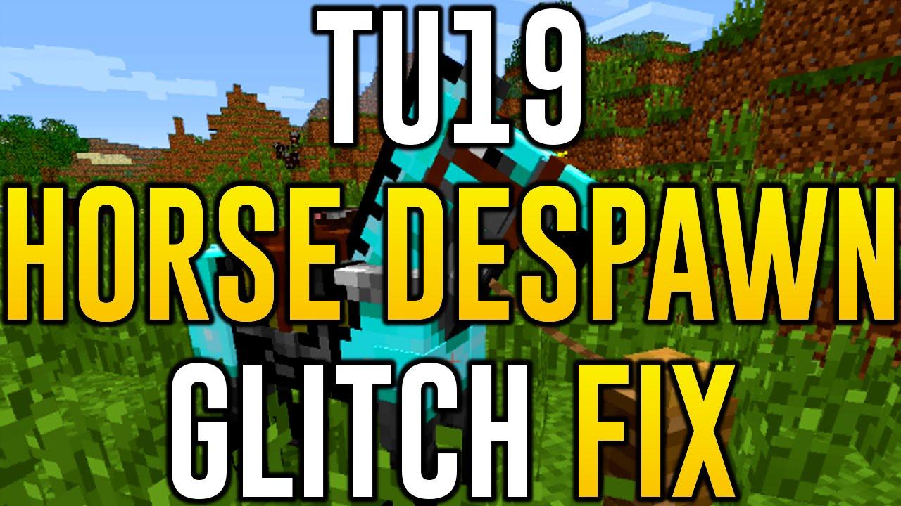 Minecraft Xbox One - HORSE DESPAWN GLITCH FIX (Minecraft PS12 Xbox
